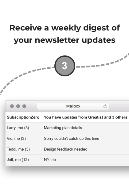 Step 3: Receive a weekly/daily digest of your newsletter updates